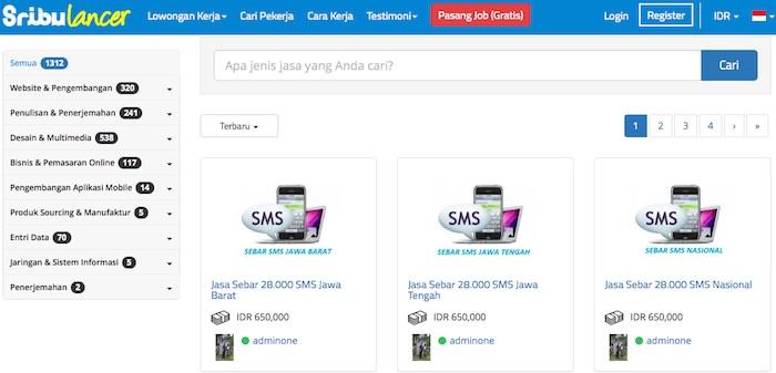 sribulancer kumpulan marketplace startup